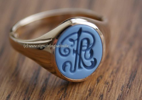 Decorative engraving in ring