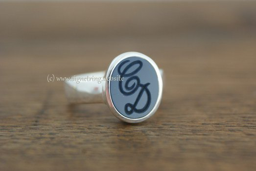 initials ring engraving custom design or monogram