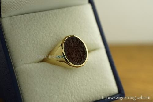 Stone ring signetring gold signet rings