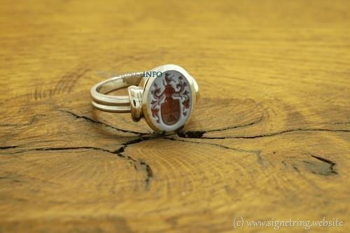 Stone ring white gold signetring signet rings