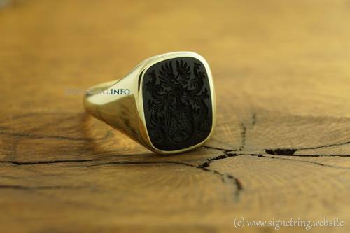Stone stones signet rings ring signetring gold