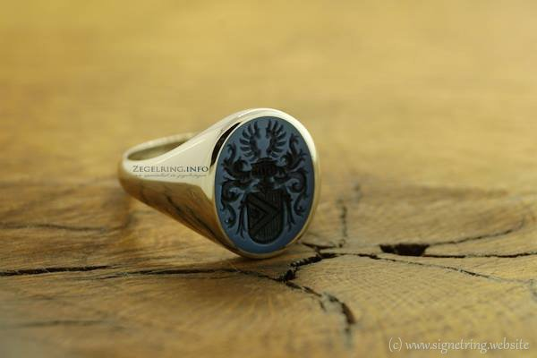 White golden signet rings gold signetring ring