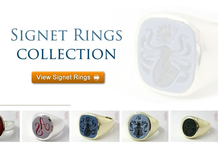 Signet rings collection