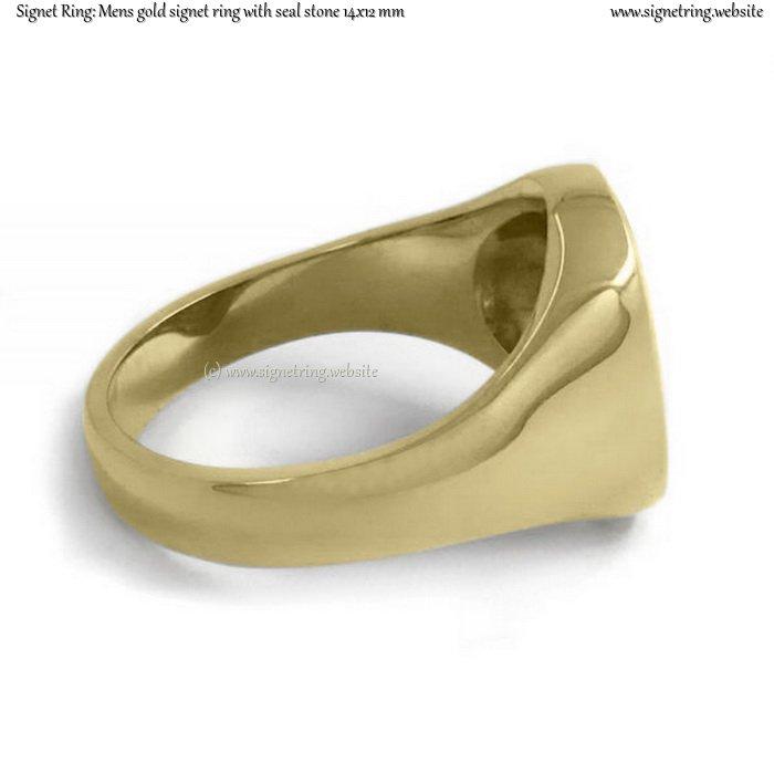 Mens Signet Ring Seal