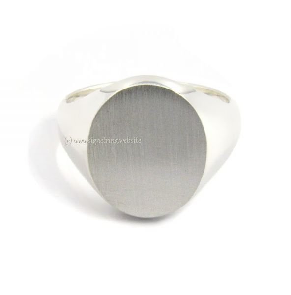 mens silver signet ring with seal 15x12 5 mm 8030 mens