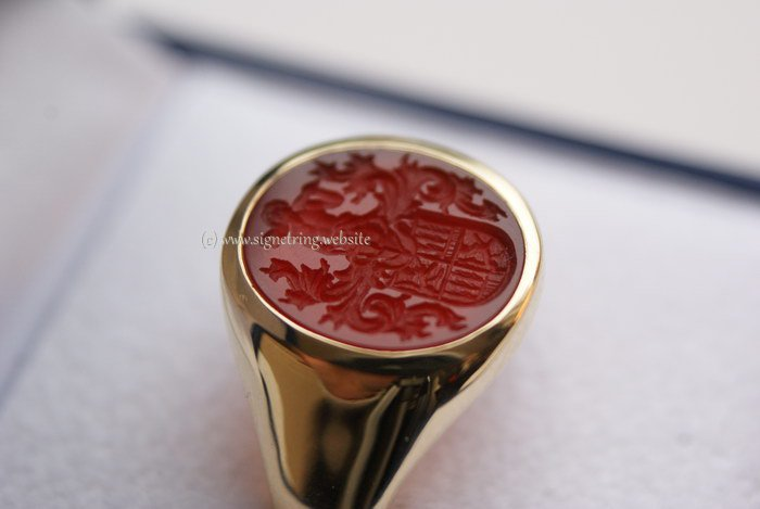 Signet ring with red carnelian