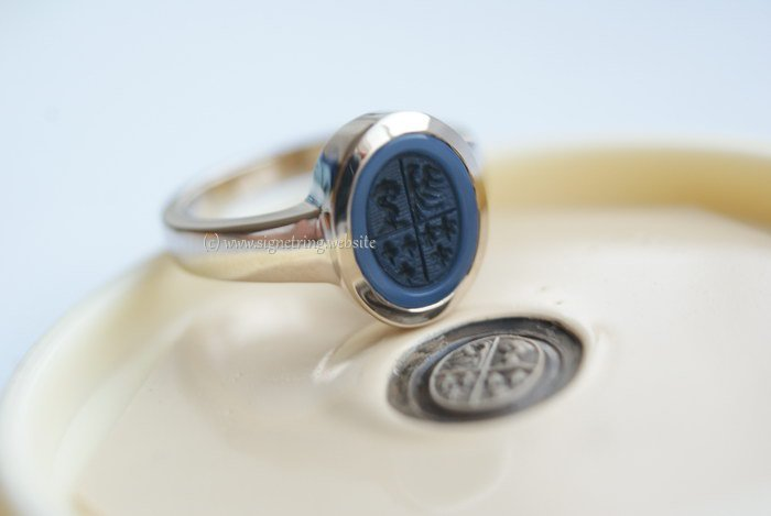 Signet Rings With Family Crest Coat Of Arms Seal Rings