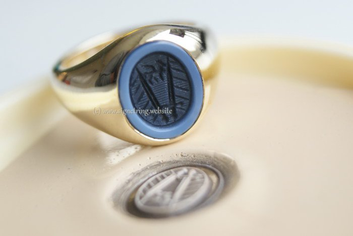 Womens pinky signet ring with womens engraving