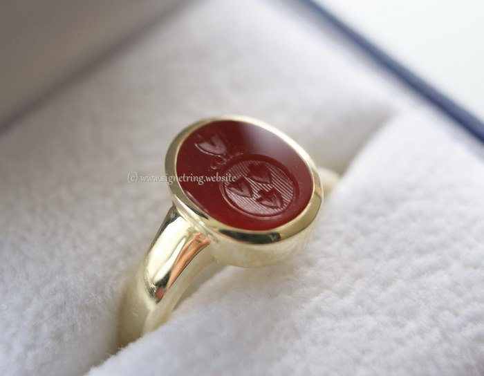 Womens signet ring with womens engraving