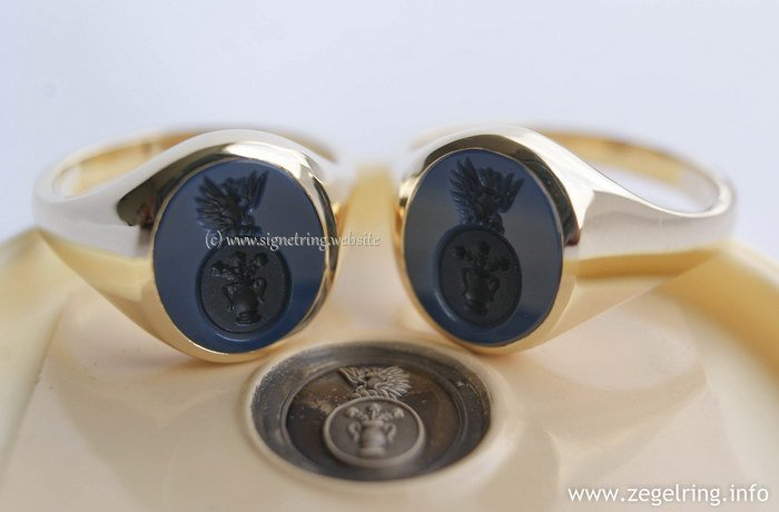 Signet Rings with Family Crest Coat of Arms